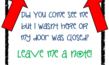 Printables: My Door is Closed, Leave a Note