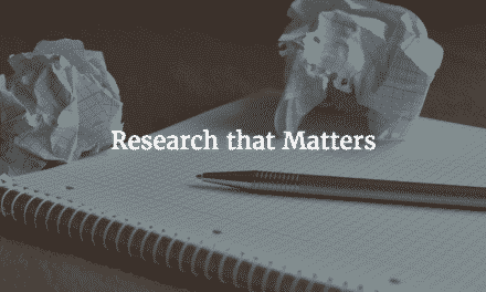 Introducing The Research That Matters Section