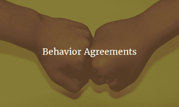Resolving Conflicts with Behavior Agreements