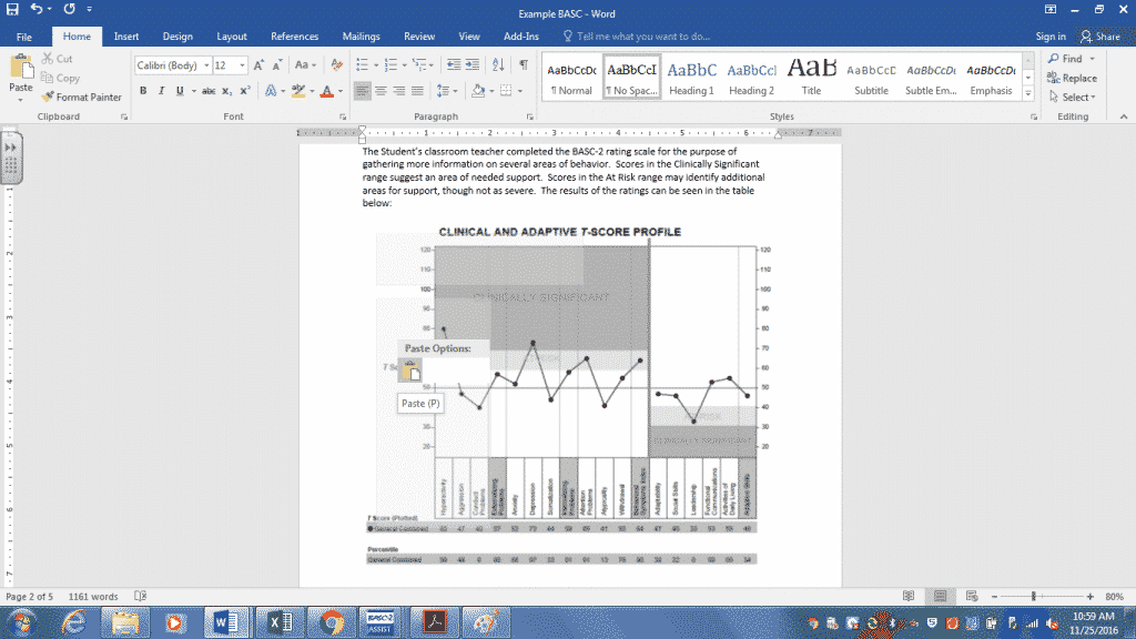 insert graph in report - school social work