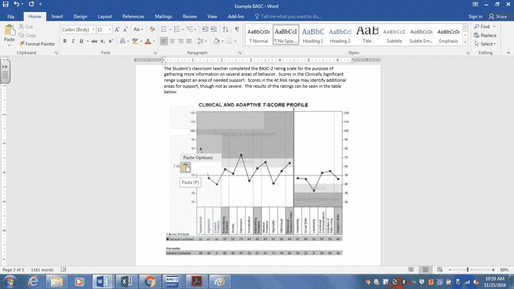 insert graph in report - school social work