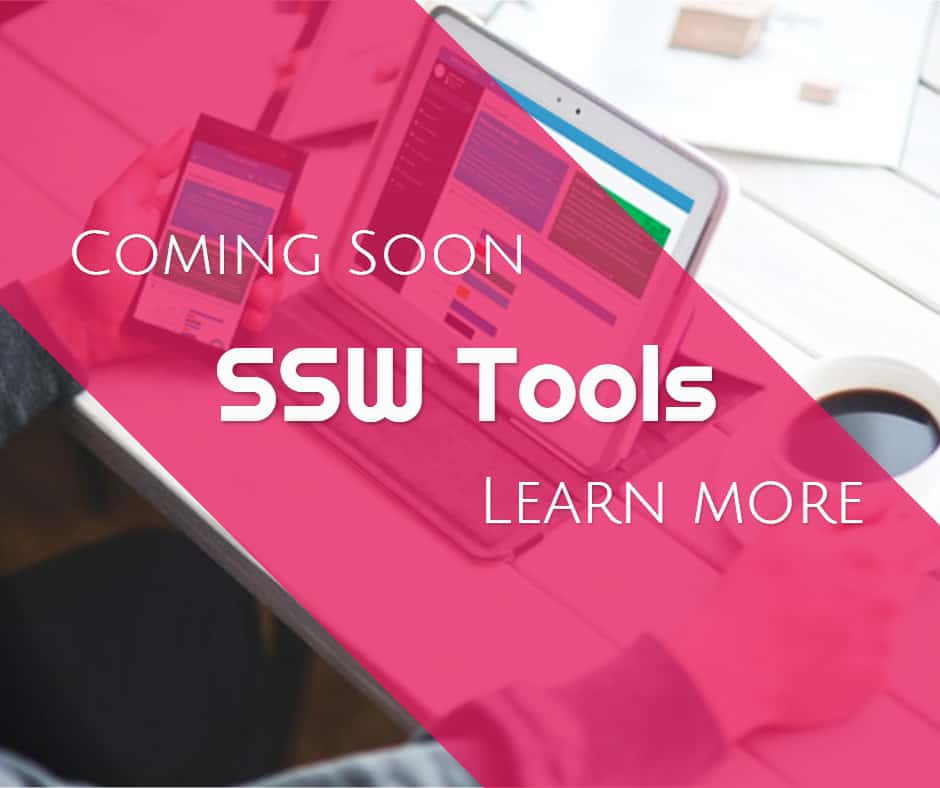 Coming Soon: SSW Tools App