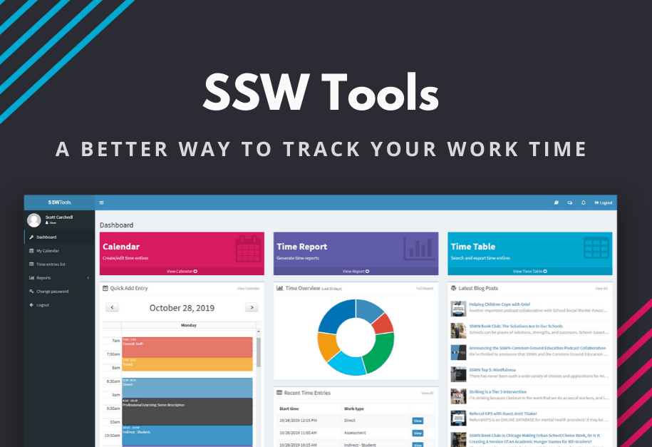 SSW Tools a Better Way to Track Your Work Time