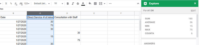 analyze school social work data with excel
