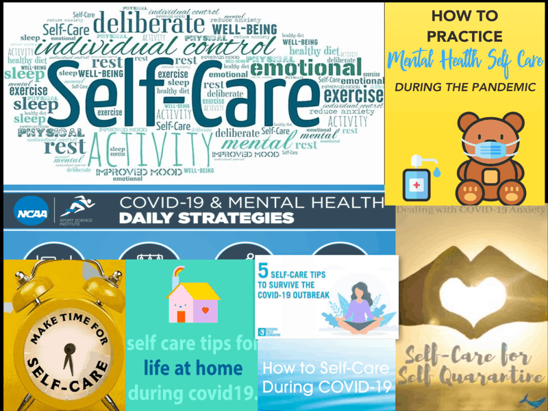 Self-Care message collage