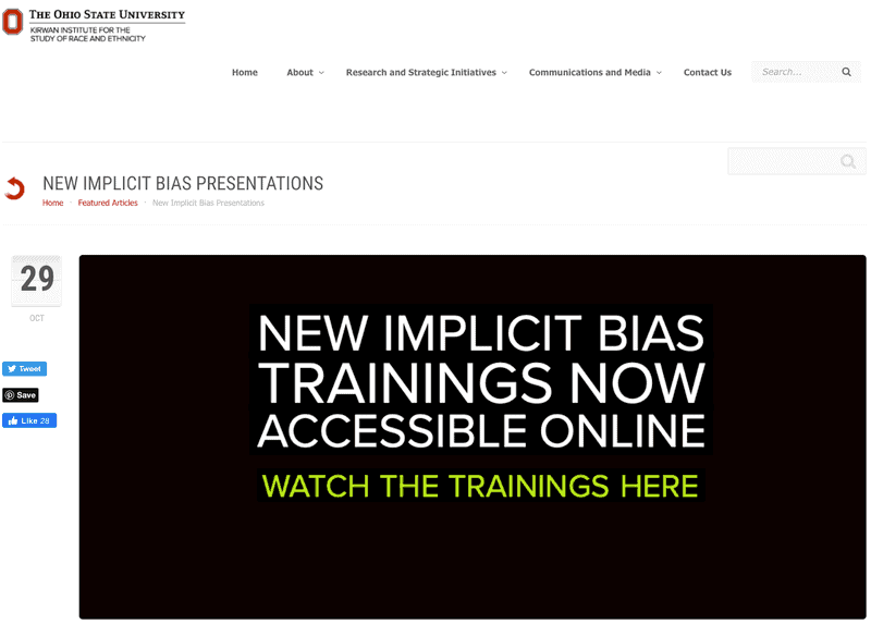 Kirwin Institute: Implicit Bias Trainings