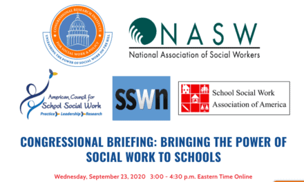 JOIN OUR CONGRESSIONAL BRIEFING:  Bringing the Power of Social Work to Schools